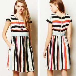 Anthropologie Maeve Peralta Striped Dress